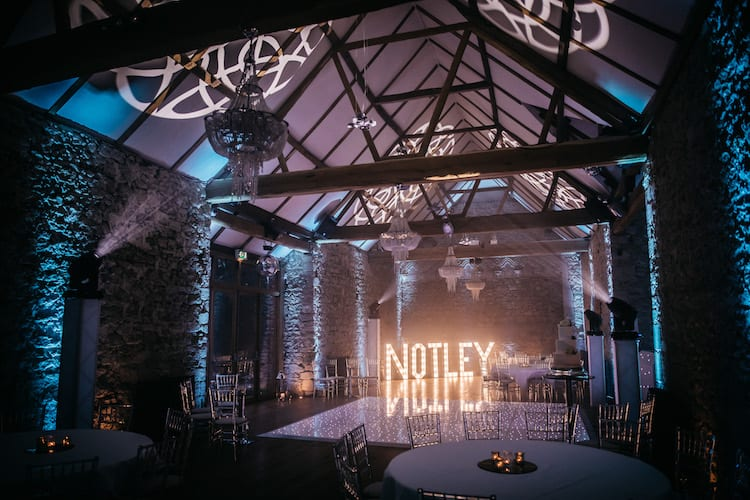 Notley Abbey dance floor