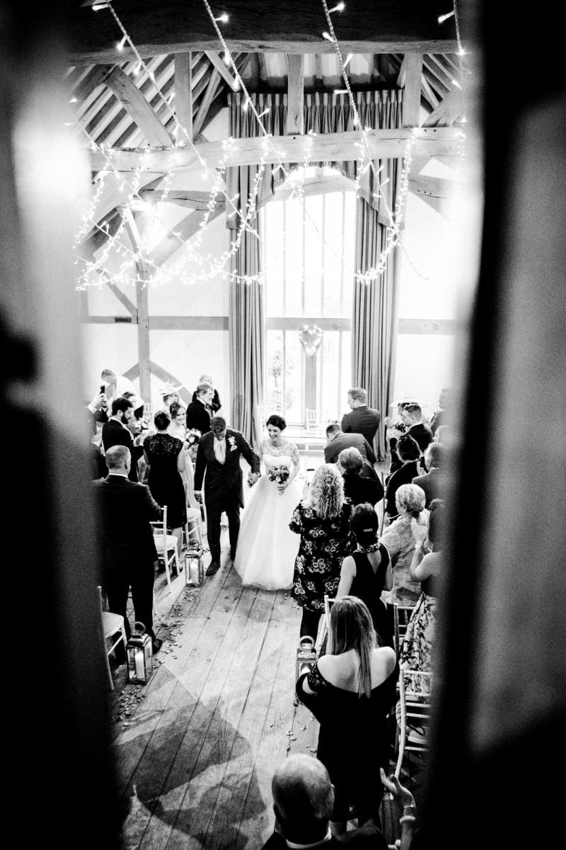 just married aisle walk Cain Manor